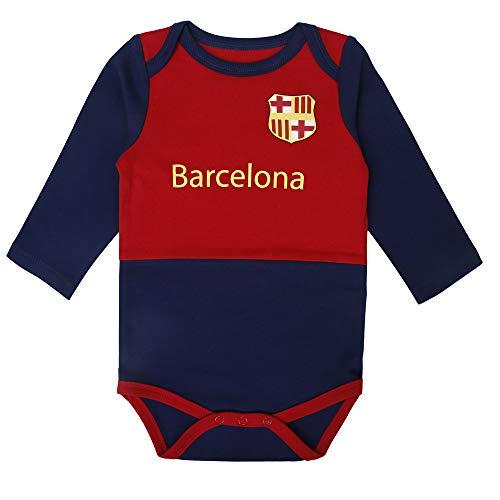 Newborn Baby Boys Girls Unique Soccer Bodysuits Onesie (Red/Blue, 3-6m)