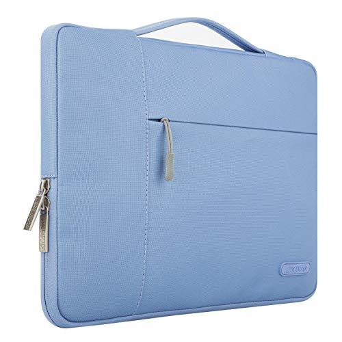 MOSISO Laptop Sleeve Borsa Compatibile con MacBook PRO/Air 13 Pollici, 13-13,3 Pollici Notebook Computer, Poliestere Multifunzionale Manica, Blu serenità