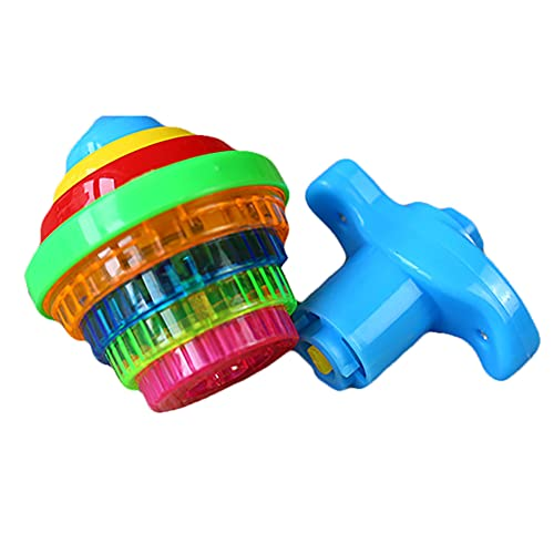 1pc Ilumina Encapsulando Gyro Girando Top Juguetes con Gyroscopio Novedad Juguetes a Granel Favores Favores Juguetes para Niños