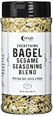 FLAVOR PACKED EVERYTHING BAGEL SEASONING: Not all everything bagel seasonings are created equal. SPQR Seasonings everything but the bagel sesame seasoning mix has been sourced using only the finest ingredients. California roasted garlic, minced dried...