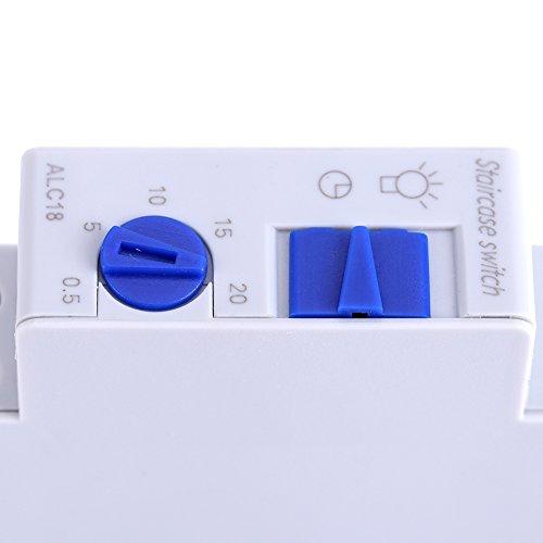 minifinker Interruptor de Escalera Material plástico ABS Seguro - Interferencia electromagnética Interruptor de Tiempo de Rendimiento Estable, para Caja de lámpara publicitaria