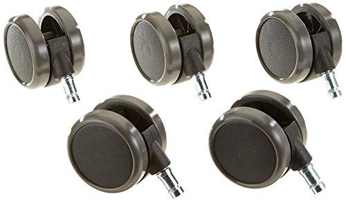 CHAISE-EXPERT Lot de 5 roulettes Auto-bloquantes avec Surface de roulement en polyuréthane. Dimension 11MM/65MM. Noir
