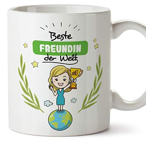 MUGFFINS Tasse/Becher Freundin -Familie Welt -Lustige und Originelle Geschenke -Tee-Kaffeetasse