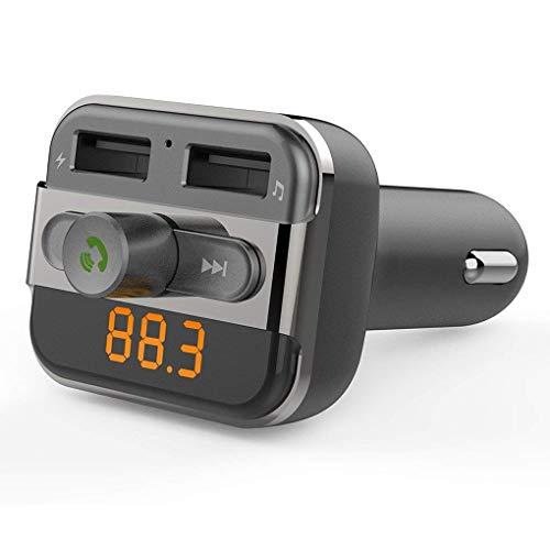 Bluetooth FM Transmitter Car Kit handsfree dual USB MP3 audio speler draadloze ondersteuning USB Flash Drive en Micro SD kaart voor Apple iPhone iPod iPad Samsung Huawei Android Smartphone etc