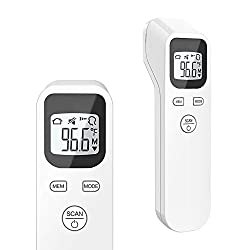 ULBRE Forehead Thermometer Non-Contact Infrared Temperature for Baby Kids and Adults Accurate Instant Reading Forehead Thermometer with LCD Display