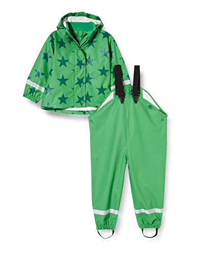 Fred'S World By Green Cotton Rainwear Set Star Veste Imperméable, Vert (Green 018602201), 92 Bébé garçon