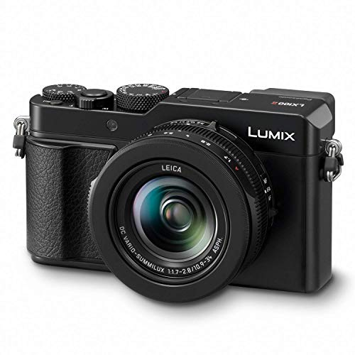Panasonic Lumix LX100 II Large Four Thirds 21.7 MP Multi Aspect Sensor 24-75mm Leica DC VARIO-SUMMILUX F1.7-2.8 Lens Wi-Fi and Bluetooth Camera with 3in LCD, Black (DC-LX100M2) (Renewed)
