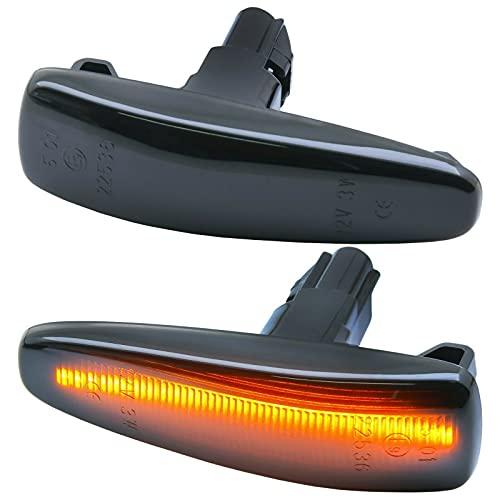 LED SEITENBLINKER passend für Mitsubishi Lancer VIII + Sportback | 2008-2017 | SCHWARZ