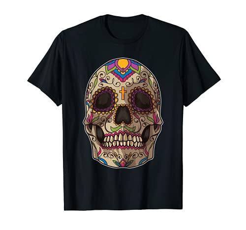 Máscara de calavera de azúcar - Calavera Camiseta