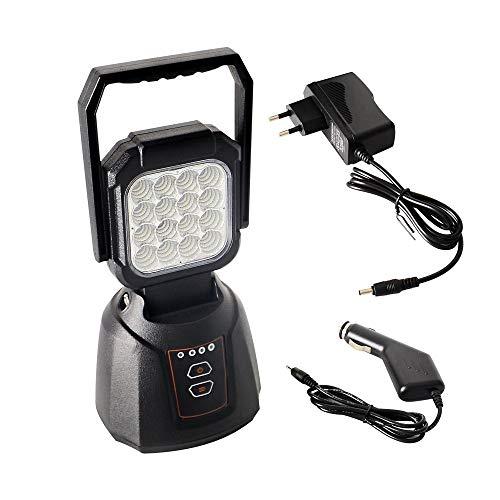 Foco LED Proyector AAIWA 48W 4800LM Lámpara Camping Recargable Luz de Trabajo LED Linterna para Emergencia Taller Automóviles Patio Jardín y Modo SOS