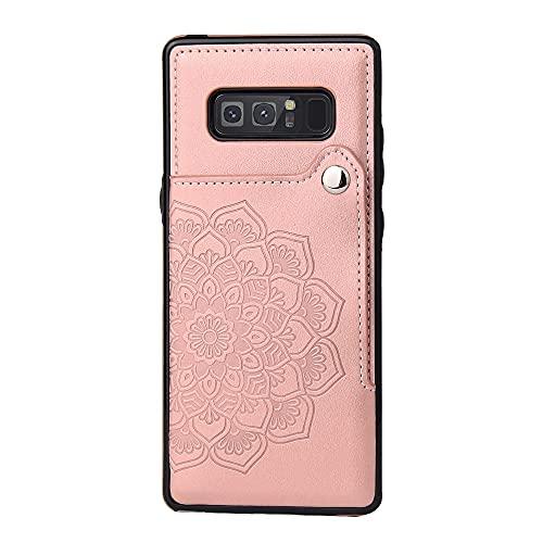 BAIYUNLONG Funda Protectora, para Samsung Galaxy Note8 Teléfono Teléfono Teléfono Titular de la Caja, Botones Magnéticos de Cuero PU Afterstand Afterstand Tapa Protectora para Samsung Galaxy Note8