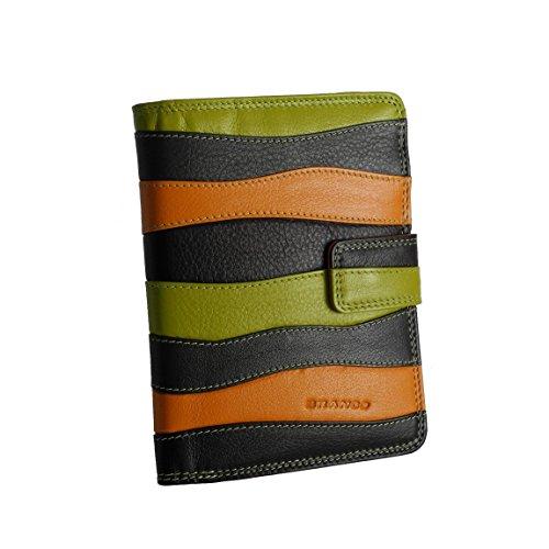 Branco Leder - sehr feine Leder Damen Geldbörse, Portemonnaie, Ladys Wallet, Mehrfarbig Multicolor Top Brand - präsentiert von ZMOKA®