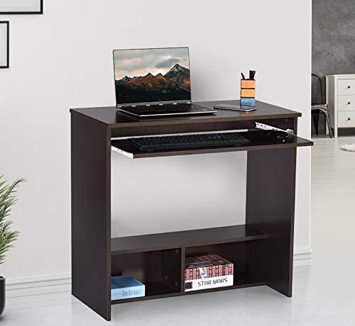 Deckup Bonton Office Table and Study Desk (Dark Wenge,...