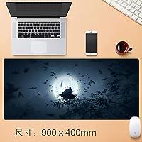 Vampsky 拡張大型プロフェッショナルゲーミングマウスパッドテーブルマットホームオフィス厚み付けすべり止めラバーベース耐水性デスクマットのノートパソコンのキーボードパッドで縫製エッジ王のリターン90 * 40センチメートル (サイズ : Thickness: 4mm)