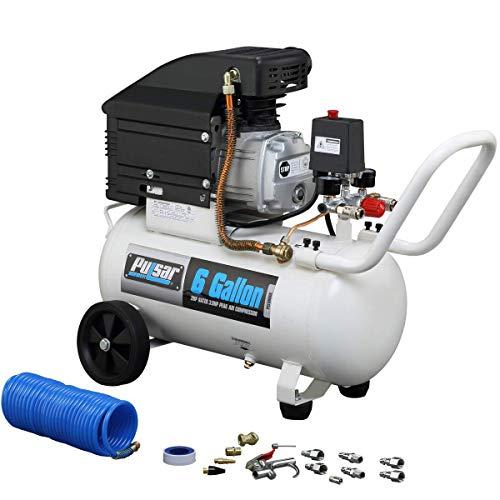 Pulsar PCE6060K Horizontal Electrical Air Compressor, 6-Gallon