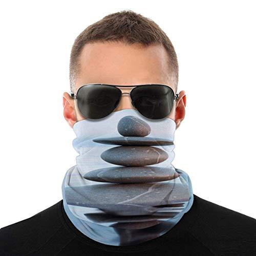 air kong La Pierre Se reflète dans l'eau Cache Cou Anti-Solaire Tour de Cou Homme Femme Masque Bandana Anti-UV Cache-Col Unisexe Cagoule Bandeau