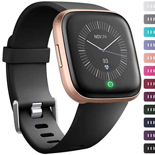 Ouwegaga Compatible for Fitbit Versa 2 Bands Versa Lite Bands Straps Black Small