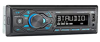 JENSEN MPR210 7 Character LCD Multimedia Single DIN Car Stereo Receiver | Push to Talk Assistant | Bluetooth Hands Free Calling | AM/FM Radio Receiver | USB Fast Charging | Not a CD player