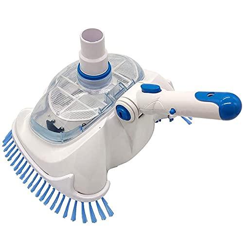 Cabezal de succión de vacío para piscina, Cepillo de limpieza para piscina Aspirador, Limpiador de piscina Cabezal de cepillo para aspiradora, para limpieza y mantenimiento