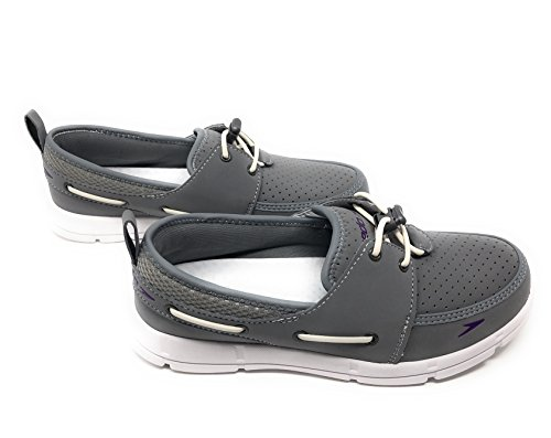 Speedo Women's Port Lightweight Breathable Water Shoe, Size 6, Grey