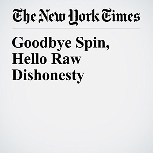 Goodbye Spin, Hello Raw Dishonesty copertina