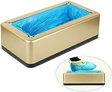 Dispensador De Cubierta De Zapatos Automático,Resistente al Agua y al Polvo Funda Zapatos con 200 Cubrezapatos Desechables Patucos para Laboratorio Hogar