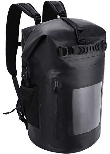 MIER 100% waterdichte droge rugzak Roll Top Dry Bag 30L/40L drijvende rugzak, gemakkelijke toegang voor het varen, zwemmen, kajakken, surfen, vissen, camping