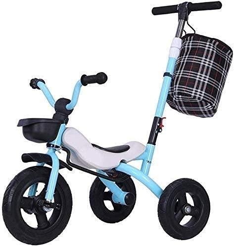 HJRBM Triciclo para niños Plegable 1-3-2-6 años Bicicleta Bicicleta Bicicleta Cochecito de...