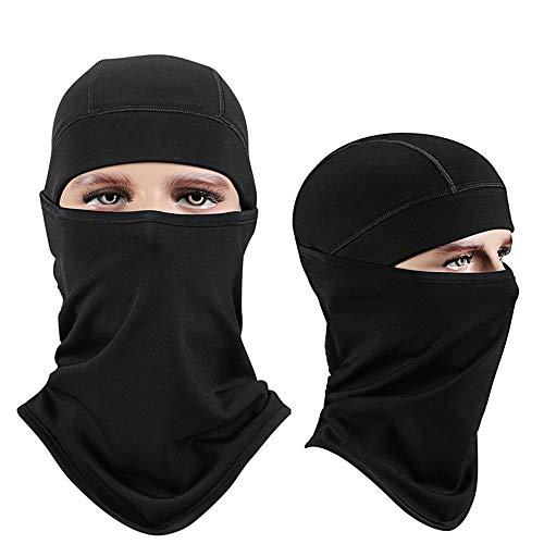 Unisex-BMX-Brille 2 Teile / paket Balaclava Ski Maske Winddicht Gesichtsmaske Motorrad Gesichtsschutz Für Männer Frauen Dünne Atmungs Halswärmer Maske Für Outdoor Radfahren Snowboard Wandern Moto-Cros