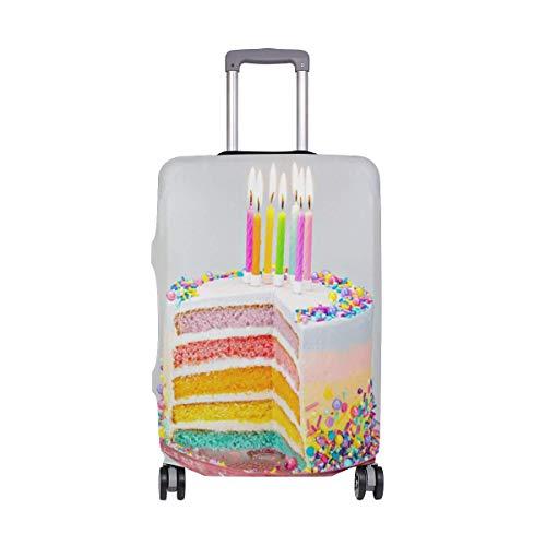IUBBKI Funda de Equipaje de Viaje Colores arcoíris Velas de Pastel de...