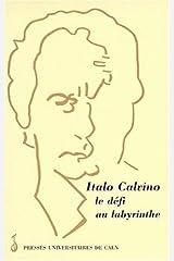 Italo Calvino, le défi au labyrinthe - actes de la Journée d'études de Caen, le 8 mars 1997 Paperback
