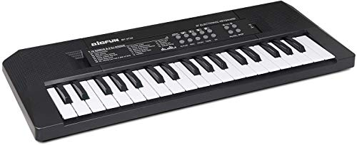 BIGFUN Kids Piano 37 Keys Multifunction Portable Electronic Kids Piano Musical Teaching Keyboard for Kids Children Early Learning Educational Toy with Double Speakers (Black)
