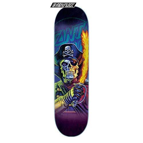 Santa Cruz Skateboard Deck The Worst Captain Deadstar Everslick Multi, 21 cm