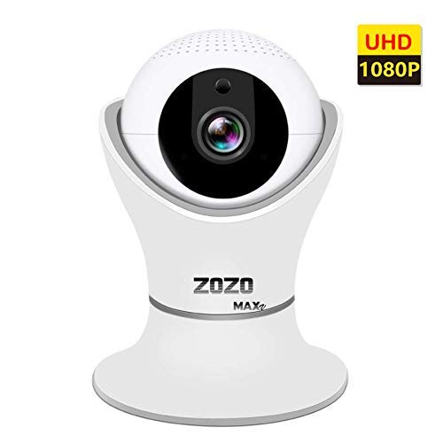 ZOZO MAXV WiFi Camera 3D Panorama FHD 2MP 1080P Home Security Surveillance with Night Vision, Two-Way Audio, IP Camera Indoor for pet Monitor, Baby, Dog, Nanny, Cat, Wireless Cameras 360 Glass Lens