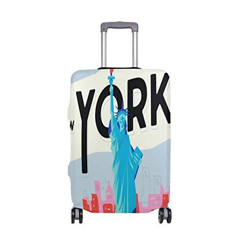 ALINLO - Funda para Maleta de Viaje de Estilo Retro de Nueva York para Equipaje de 18 a 32 Pulgadas