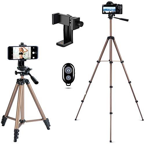Handy Stativ Smartphone Kamera Stativ Lightweight Tripod mit Handy Halterung und Bluetooth Fernbedienung