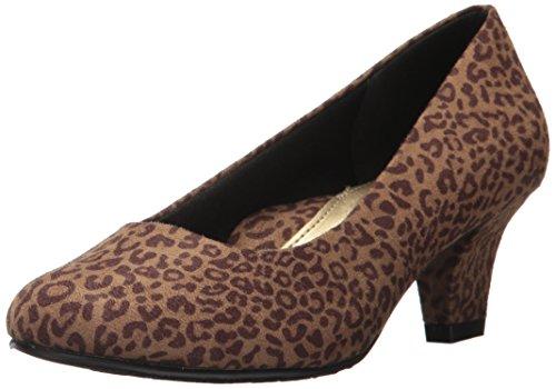 Soft Style by Hush Puppies Women's Gail Dress Pump, Tan Leopard, 6.5 M US
