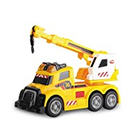 Dickie Toys 203302006 - Action Series Mobile Crane, Kranwagen inklusive Batterien, 15 cm