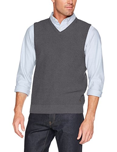 LERROS Herren Pullunder, Grau (Mid Grey Melange 250), X-Large