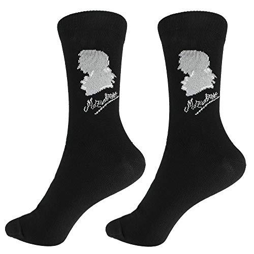 mugesh Musik-Socken Mozart (43/45) - Schönes Geschenk für Musiker