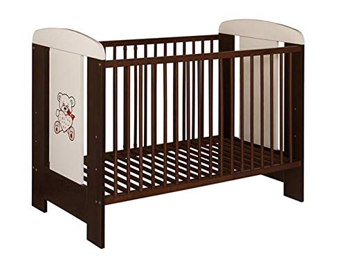Best For Kids, lettino My Sweet Baby con materasso in gomma piuma spessa 10 cm, certificato TÜV, lettino componibile in 4 pezzi da 120 x 60 cm