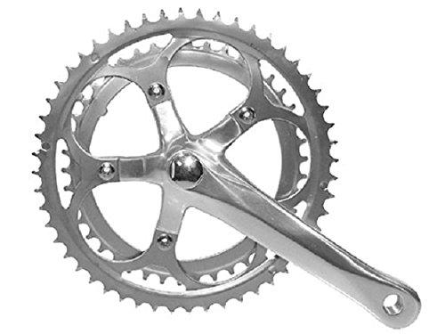 Kettenradgarnitur 2-fach silber 52-42 Zähne ALU/Stahl für MTB/Rennrad
