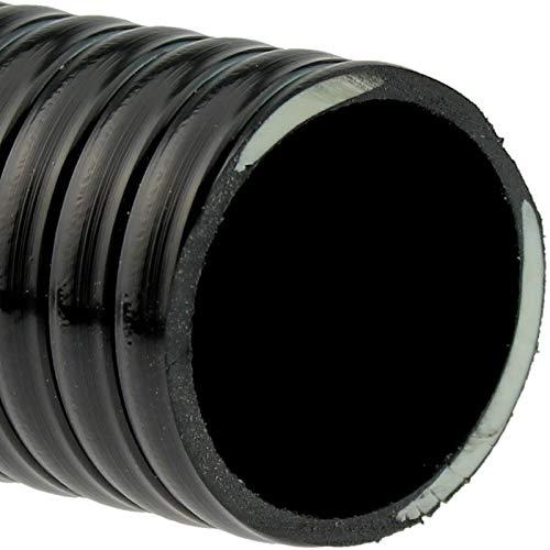 folien-zentrum Saug Druckschlauch schwarz Größe 32 oder 38mm Meterware Pool Teich (Innen 38mm (1 1/2 Zoll))