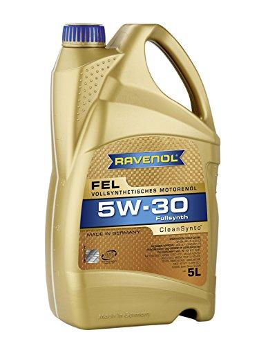RAVENOL FEL SAE 5W-30 / 5W30 Mid SAPS Vollsynthetisches Motoröl, DPF geeignet, JASO DL-1 (5 Liter)