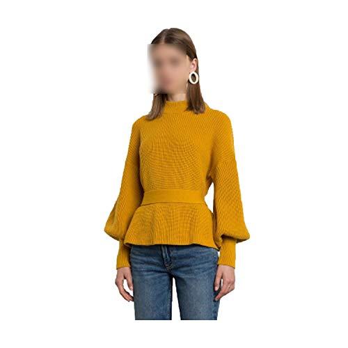 Relaxed dames lange mouwen pullover basic riem houder Kerstmis sweater Autumn