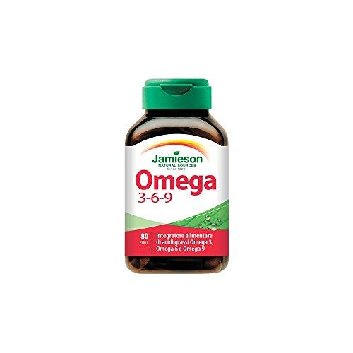 Biovita srl Omega 3-6-9 Jamieson Integratore di Olio di lino, borragine, pesce - 80 Perle