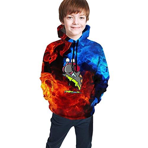 Jingliwang Pullover Hooded Teen Sweatshirt Youth Fashion Tops Slogo-Man Unisex Anime Hoodie 3D Print Cosplay Pullover Fashion Hooded Sweatshirt for Boys Girls Teen