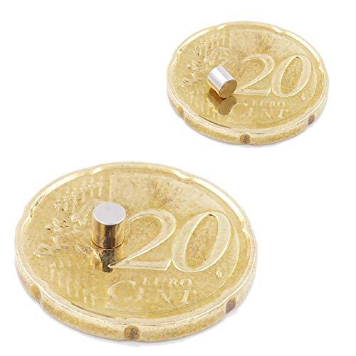 Brudazon | 25 Mini Scheiben-Magnete 3x3mm | N52 stärkste Stufe - Neodym-Magnete ultrastark | Power-Magnet für Modellbau, Foto, Whiteboard, Pinnwand, Kühlschrank, Basteln | Magnetscheibe extra stark