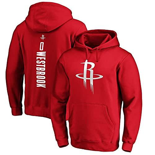 SHPP Camiseta Clásica De Baloncesto Russell Westbrook # 0 Retro Camiseta De Baloncesto para Hombre,Mujeres Y Niños,Largo-Deportes Casuales De Manga (S-XXXL)-Rojo XXXL