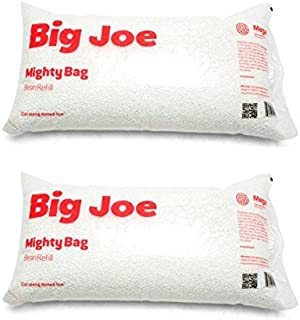 Big Joe Bean Bag Refill, 2 Pack, White
